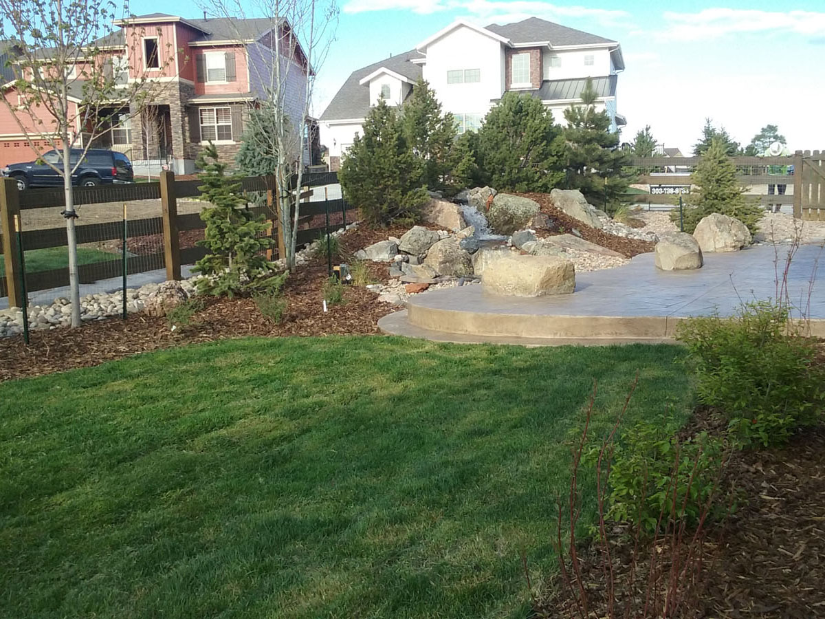 Patios and Water Feature Example (4x3)