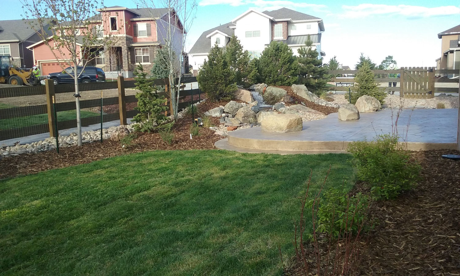 Patios and Water Feature Example (5x3)